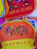 Souvenirs at Grand Anse Craft and Spice Market  Grenada  Windward Islands  Caribbean