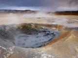 Mudpots at Namaskard Geothermal Area  Near Lake Myvatn and Reykjahlid