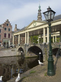 The Corn Bridge  Centre of the Old Town  Leiden  Netherlands  Europe
