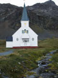Church at Grytviken Where Shackleton's Funeral Was Held  South Georgia  South Atlantic
