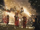 Fire Dragon Lunar New Year Festival  Taijiang Town  Guizhou Province  China  Asia