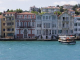 The Restored Waterfront Buildings of Yenikoy on the Bosphorus  Istanbul  Turkey  Europe