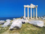 Roman Ruins of the Temple of Apollo  Side  Anatalya Province  Anatolia  Turkey Minor  Eurasia