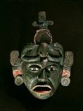 Mask in Jade and Shell Mosaic  Mayan Early Classical period 300-600 AD  Tikal  Guatemala