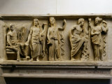 Jupiter  Pluto  Persephone  Neptune  Amphitrite  Marble Roman Imperial Era Relief (c490-30 BC)