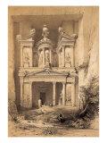El Kasne (Treasury)  Petra  Jordan  1843 Engraving