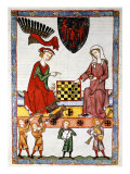 Otto IV  1266-1309  Elector and Margrave of Brandenburg  Playing Chess with his Wife
