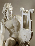 Apollo Playing the Zither  Marble  1st century AD