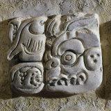 Mayan Glyphs  Stuccowork  Found inside Temple XVIII  Mexico