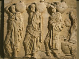 Bearers Carrying Hydria  the Parthenon Frieze (East Side)  c 442-38 BC Classical Greek