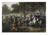 George Washington 1732-1799  First US President  on Horseback during the Battle of Monongahela