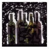 Silhouette of Wine Bottles