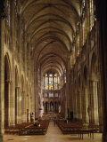 Nave  Saint-Denis Cathedral  Gothic  Founded 1137 by Abbot Suger