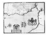 Map No8 showing the route of the Armada fleet  engraved by Augustine Ryther  1588