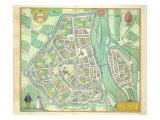 Map of Maastricht  from 'Civitates Orbis Terrarum' by Georg Braun