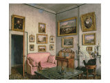 Col Norcliffe's study at Langton Hall  c1837