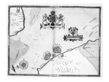 Map No9 showing the route of the Armada fleet  engraved by Augustine Ryther  1588