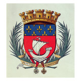 Coat of Arms of the City of Paris with the Motto 'Fluctuat Nec Mergitur'