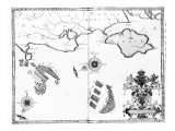 Map No6 showing the route of the Armada fleet  engraved by Augustine Ryther  1588