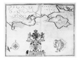 Map No7 showing the route of the Armada fleet  engraved by Augustine Ryther  1588