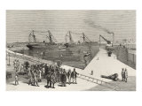 Visit of Viceroy of India to the Sassoon Dock at Bombay  from 'The Illustrated London News'