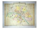 Map of Paris in 1789  1887