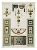 Designs for Curtain Cornices  Girandoles and Folding Doors  1774