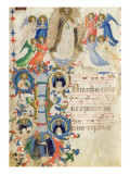 Depicting St Dominic and an Historiated Initial 'I' from a Gradual Book from San Marco e Cenacoli