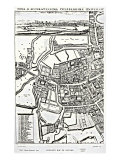 Loggan's Map of Oxford  Eastern Sheet  from 'Oxonia Illustrated'  published 1675