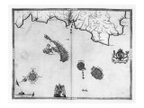 Map No3 Showing the route of the Armada fleet  engraved by Augustine Ryther  1588