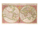 Double Hemisphere World Map  1587