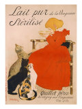 Poster advertising Milk  published by Charles Verneau  Paris  1894