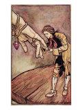 Original Watercolour Illustration for 'Gulliver's Travels' by Swift  Gulliver in Brobdingnag  1909