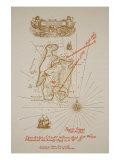 Map of Treasure Island  an illustration from 'Treasure Island' by Robert Louis Stevenson