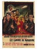 The Guns of Navarone  French Movie Poster  1961