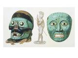 Skull Mask of the God Tezcatlipoca and Mask Representing the God Quetzalcoatl or Tonatiuh  c1500