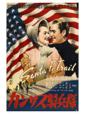 Santa Fe Trail  Japanese Movie Poster  1940