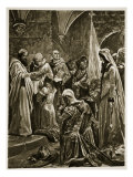 Anointing of Edward the Martyr at His Coronation by St Dunstan at Kingston-On-Thames