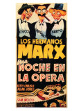 A Night At The Opera  Spanish Movie Poster  1935