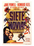 Seven Brides for Seven Brothers  Spanish Movie Poster  1954