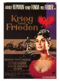 War and Peace  German Movie Poster  1956