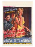 Dial M For Murder  Belgian Movie Poster  1954