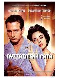 Cat on a Hot Tin Roof  Greek Movie Poster  1958