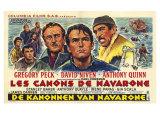 The Guns of Navarone  Belgian Movie Poster  1961