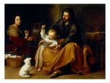 Holy Family with Baby Sparrow