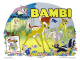 Bambi  UK Movie Poster  1942