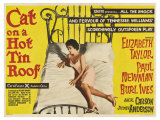 Cat on a Hot Tin Roof  UK Movie Poster  1958