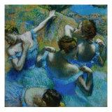 Quatre ballerines se redressant dans le vent Giclée par Edgar Degas