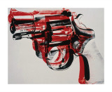 Gun  c1981-82 (black and red on white)