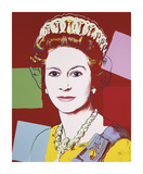 Reigning Queens: Queen Elizabeth II of the United Kingdom  c1985 (Dark Outline)